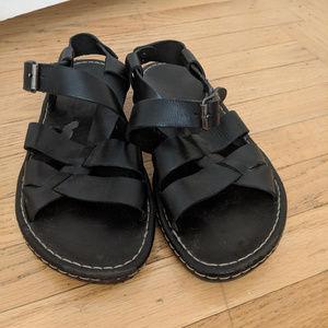 ALDO Men's Black Fisherman Sandals sz41 / 8.5